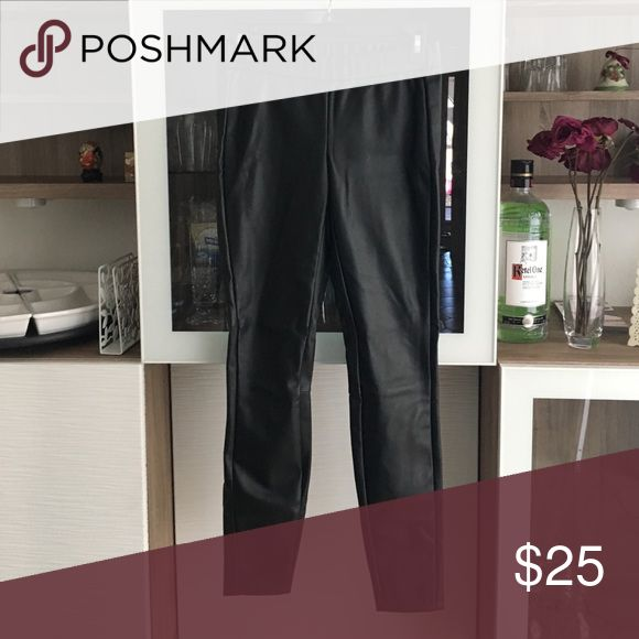 Armani exchange pleather lagging pants I call them legging pants because they fit like pants, not super tight like leggings but they are designed like a legging with a stretchy waistband. Size 2 I ❤️ offers! Armani Exchange Pants Skinny
