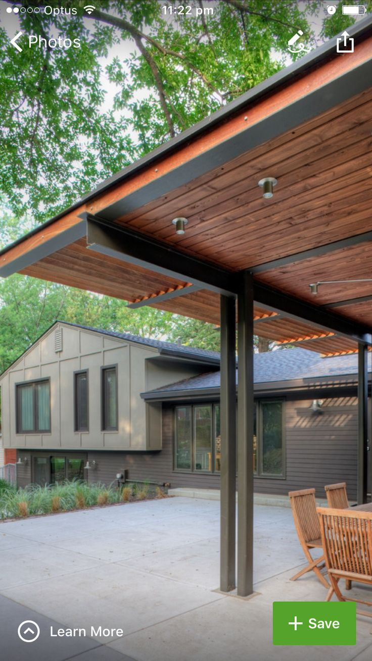 Retractable canopy for pergola - Solid Pergola With Louvered Edges Could We Use It For A Carport
