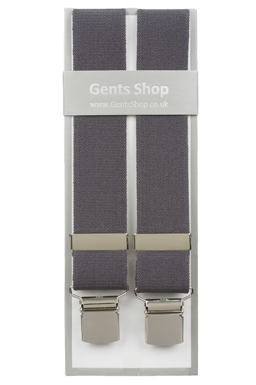 Plain Grey Elastic Trouser Braces With Large Clips  http://www.99wtf.net/men/mens-accessories/guide-to-wear-accessories/