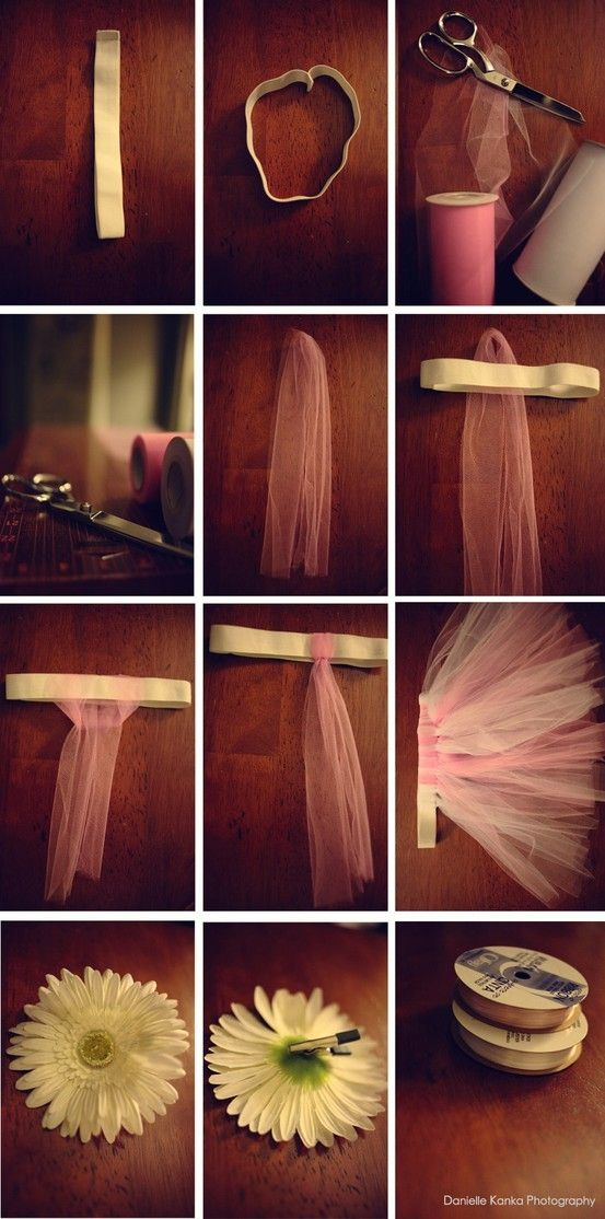 Homemade tutus. I have a bunch of tulle left over from the wedding, I could totally make a tutu.. I don't know why I would need one but it still sounds good!