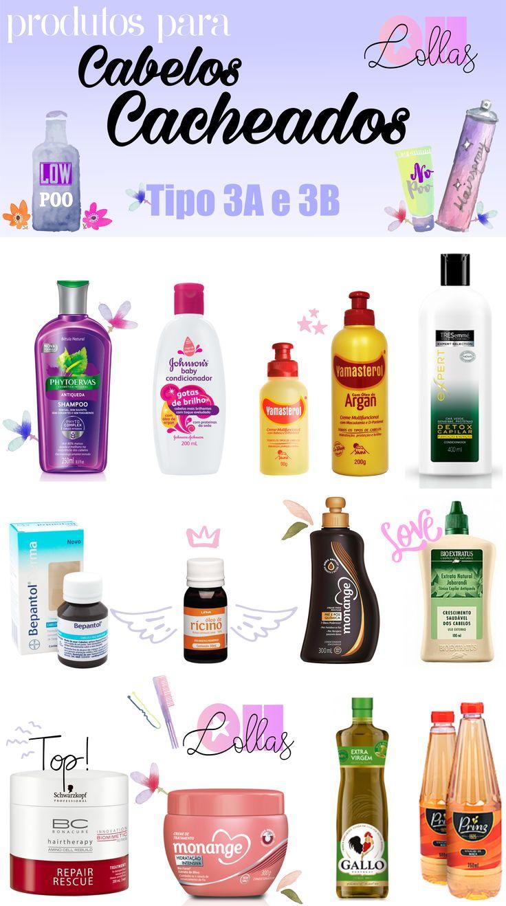 Produtos para cabelos cacheados tipo 3A e 3B, liberados para Low Poo e No Poo. Viva os cachos! www.ohlollas.blogspot.com
