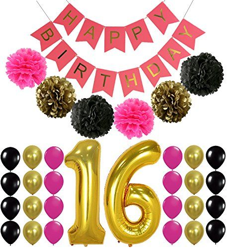 Best 25 16th birthday decorations ideas on pinterest for 16th birthday decoration