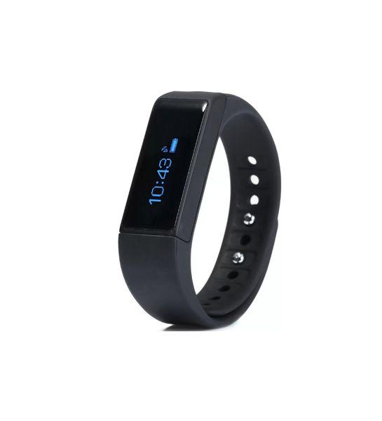Mens i9 iOS Black Smart Bracelet Fitness Tracker