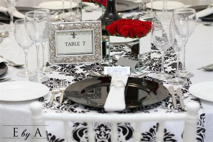 Black and White - Wedding Décor, anne@ebya.co.za