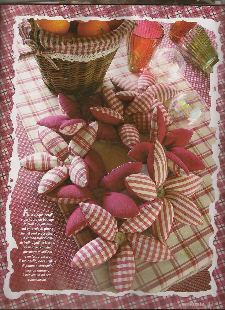 Casa cuori e country cartamodello stelle di natale in stoffa cucito creativo pinterest - Pinterest natale ...