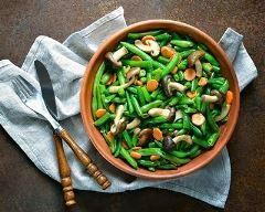 Salade de haricots verts et champignons de Paris facile