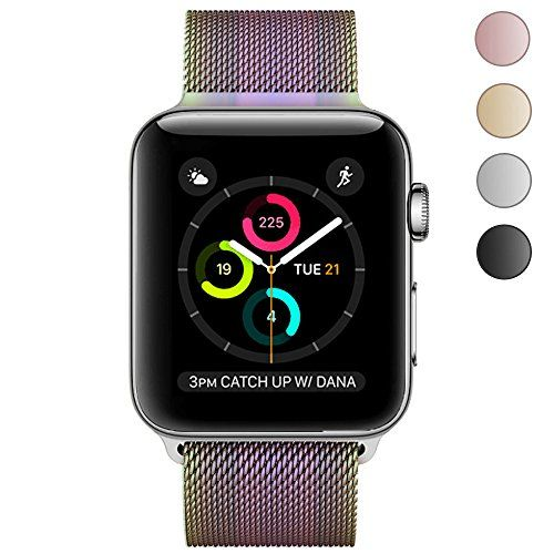 Apple Watch Band 42mm Yearscase Strong Magnetic Milanese Loop Stainless Steel Replacement iWatch Strap for Apple Watch Series 3 2 1 Nike Sport and Edition - Colorful