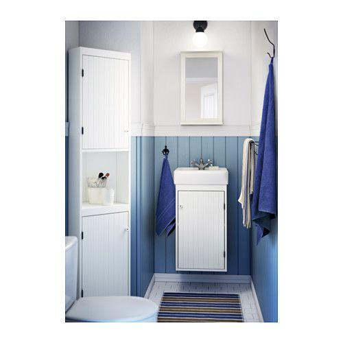 silver n hamnviken waschkommode 1 t r wei mirror with shelf taps and corner unit. Black Bedroom Furniture Sets. Home Design Ideas