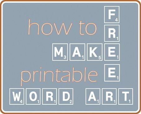 Awesome tutorial for making your own FREE word art