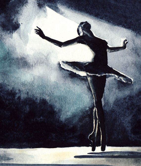 Black Swan Ballerina Performance Ballet Dancer by LauraRowStudio
