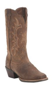 Justin Ladies Silver Collection Brown Crazy Horse Goat Punchy Toe Western Boots | Cavender's