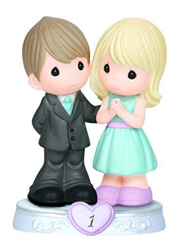 Precious Moments First Anniversary Couple Figurine