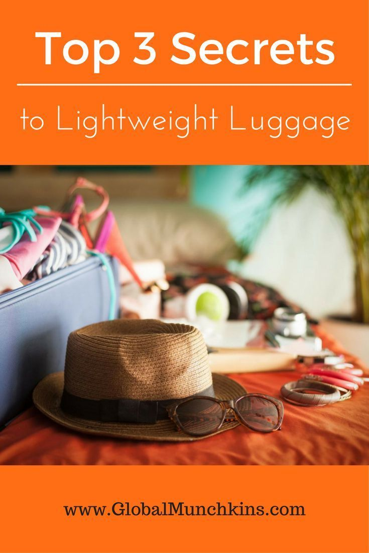 My BEST Secrets to Packing Light. Find out how my 3 tips will help you create a lightweight luggage ensemble and find out what 3 travel products I can't live without.