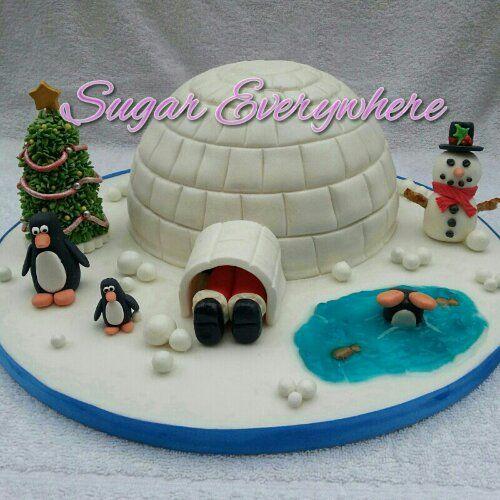 Igloo cake. Alternative Christmas cake.