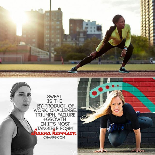These women are my #wonderwomenwednesday #wcw  @natashahastings @kathrynbudig @shauna_harrison funny I know that all of my ladies are @underarmourwomen #WomenofWill and this is an #LJInspired challenge.  But the truth is I love these women they are the foundation of where my fitness passion sparked from in running yoga and training. And I don't feel like that should change based on brand. These ladies bring it in their crafts I mean they never back down. All I see is strength mentally and…