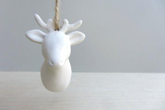 Porcelain Deer Head A Designer Christmas