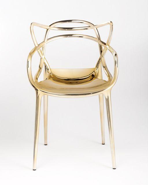 Gold Kartell Philippe Starck Masters Chair /carabijn.com