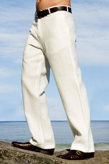 Linen Amalfi Pant - $70.00 Ivory Colored