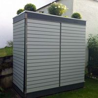 Der moderne Gartenschrank für kleine Gärten und Dachterrassen