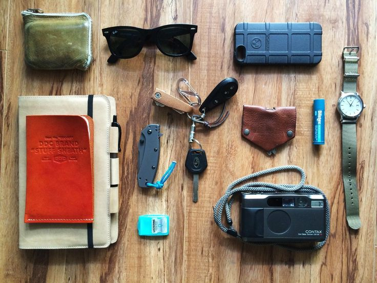 Not a fan of the iPhone, but I do like the Magpul Case.. :)  Comme des garcons zipper wallet Ray Ban Wayfarer sunglasses Magpul iPhone 5s case DDC Brand Sheath for Field Notes Gfeller leather case for Moleskine journal Pilot G-2 07 black pen Kershaw Cryo Listerine breath strips Key Pal by Obrary Hard Graft key fold Blistex lip balm Contax T2 35mm film camera Maurice Lecroix Les Classiques with Crown & Buckle nato strap