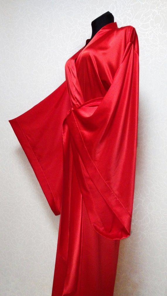 7a1b53e381 Silk kimono robe