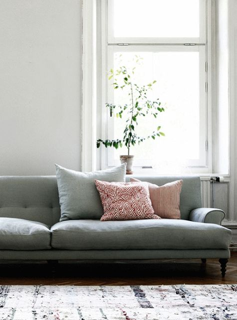 Love the look and color of this sofa - so yummy!!
