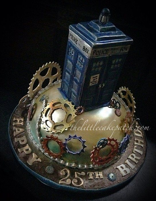 TARDIS -Dr.Who Cake by JoWieneke of TheLittleCakePatch---not a perfect TARDIS, but a pretty amazing cake/showpiece!