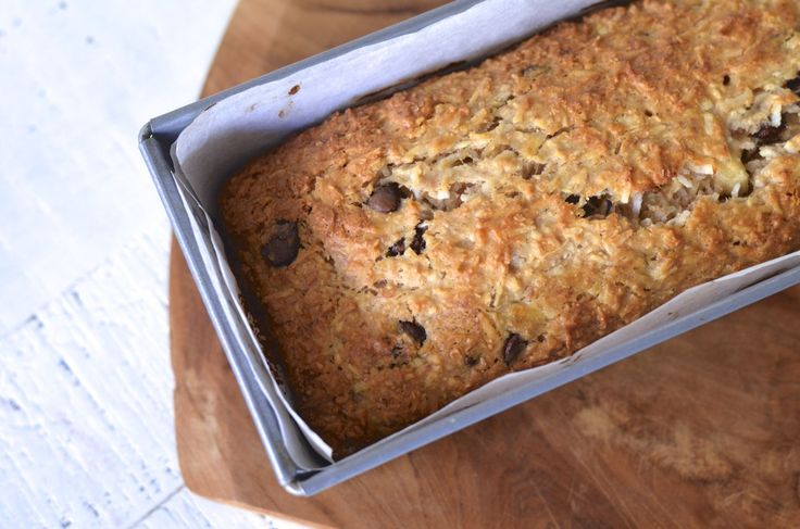 Banana, Coconut & Chocolate Chip Loaf Cake recipe