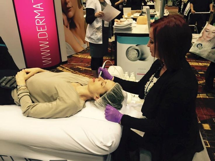 Here's Crystal at the @faceandbodyexpo demonstrating a #MetaTherapy treatment, via @SkinIncMagazine