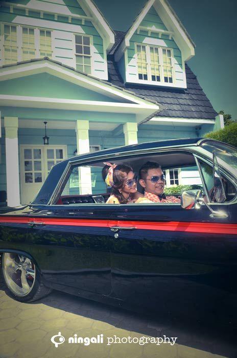 Impala Car #vintage #prewedding #preweddingvintage #photograferindonesia #jogja