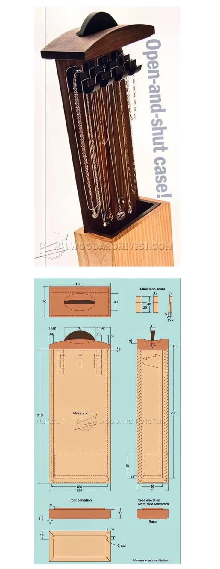 Necklace Box Plans - Woodworking Plans and Projects | WoodArchivist.com