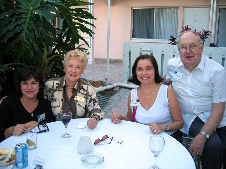 Carol La Centra with former SSCA President Hope Byrnes and Paul Byrnes at the Florida Sister Cities State Conference reception at the Helmsley Sandcastle on Lido Key in Sarasota in 2005