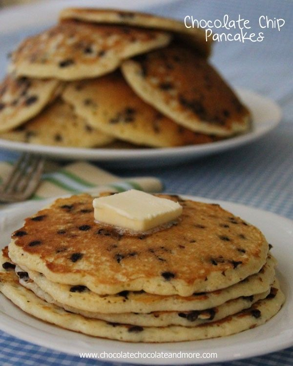 Chocolate Chip Pancakes-just a few simple ingredients makes for a delicious breakfast treat!