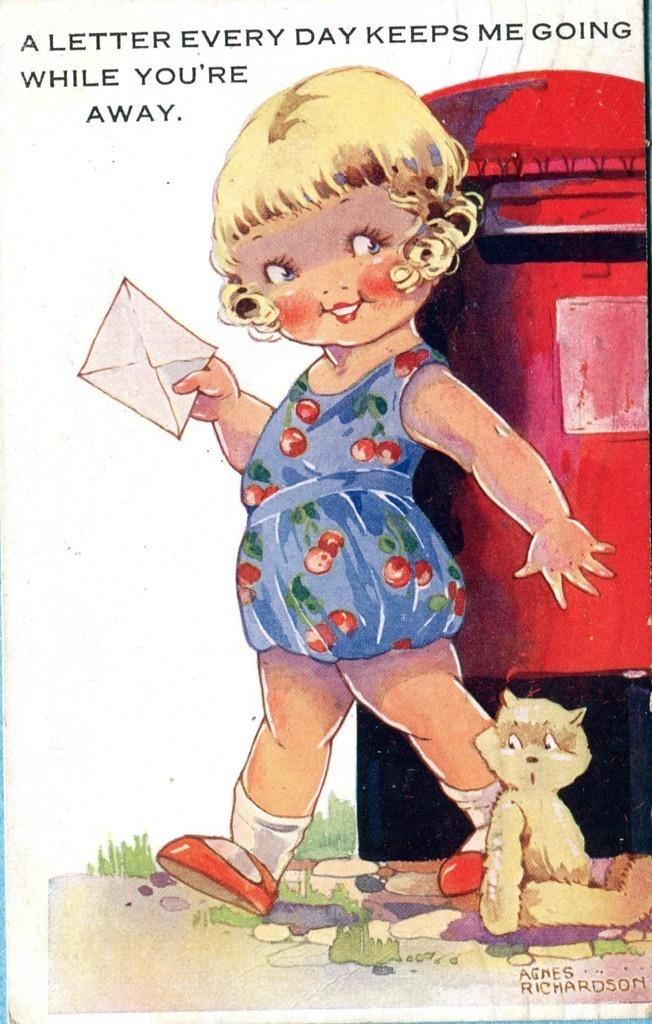 Agnes Richardson card 1945 | eBay