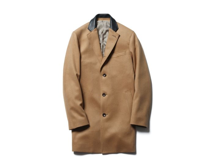 SOPHNET. CASHMERE CHESTER FIELD COAT