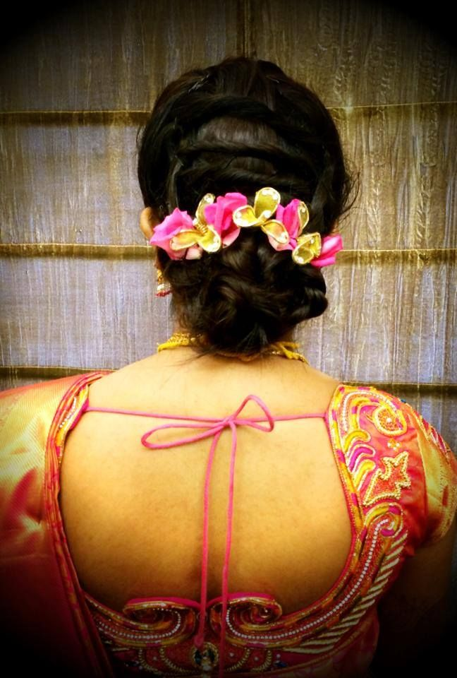 indian style hair buns indian s bridal reception hairstyle by swank studio 7993