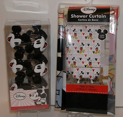 Disney Mickey Mouse Shower Curtain Shower Curtain Hooks