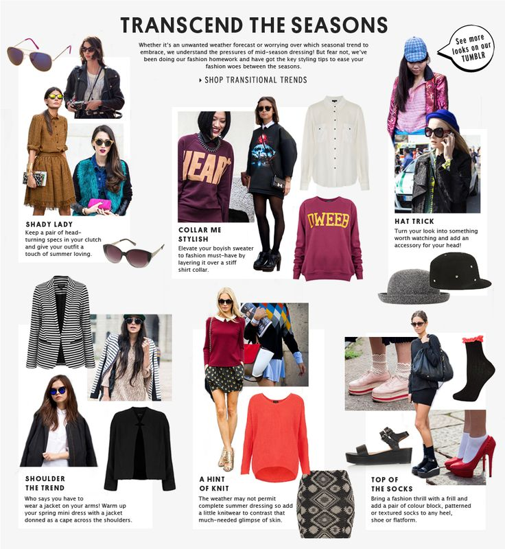 TRANSCEND THE SEASONS - Shop Transitional Trends - we have found this so useful! #topshop #trends