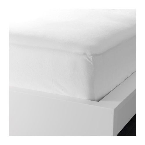 IKEA - DVALA, Hoeslaken, 160x200 cm, , Katoen voelt lekker zacht aan tegen de huid.Hoeslaken met elastiek in de hoeken; geschikt voor matrassen met een dikte tot 26 cm.