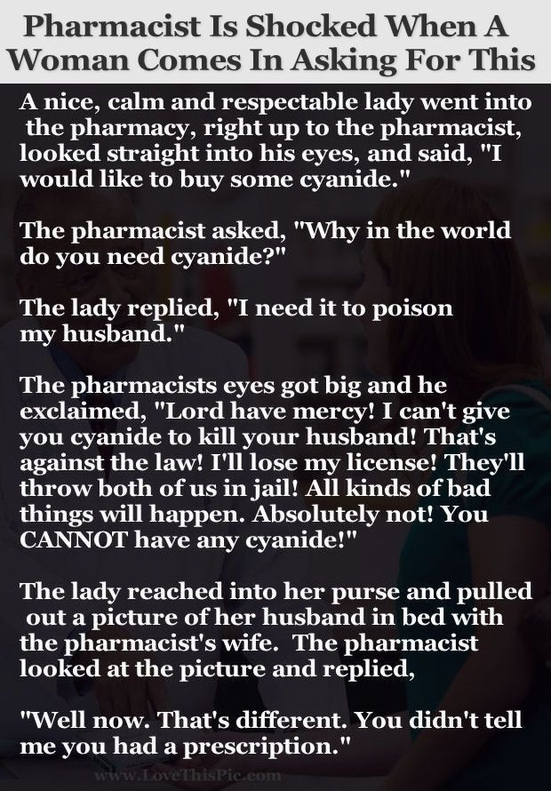 Pharmacist Is Shocked When This Woman Comes In Asking For This... funny jokes story lol funny quote funny quotes funny sayings joke hilarious humor stories marriage humor funny jokes