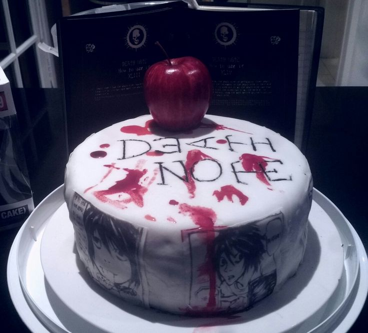 13th birthday cake- Death Note