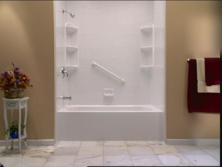 Shower insert acrylic tubliner shower liner tub - Home depot bathroom tile installation cost ...