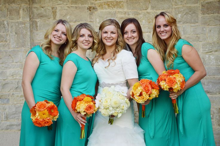 orange & turquoise wedding colors #orange #turquoise #weddingcolors #wedding