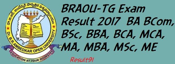 BRAOU-TG Exam Result 2017 BA BCom, BSc, BBA, BCA, MCA, MA, MBA, MSc, ME: Dr B.R.Ambedkar Open University,Telangana is published Result 2017 for BA B.Com, B.Sc, BBA, BCA, MCA, MA, MBA, M.Sc, M.Ed, B.Pharma, M.Pharma M.Com exam on its official website.