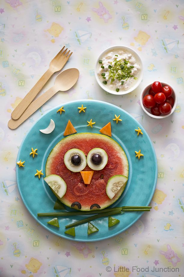 Owl on my plate