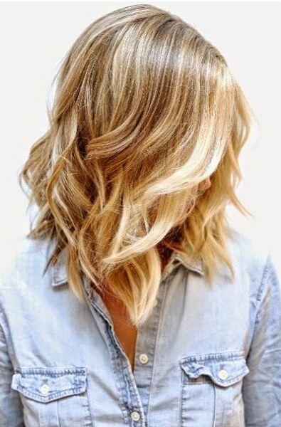 Mid-length Ombre Hair