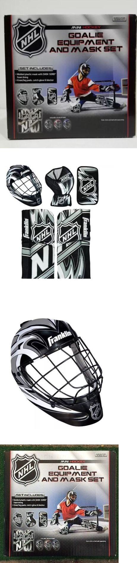 Other Hockey Goalie Equipment 79765: New Nhl Mini Hockey Franklin Sports Goalie Equipment And Mask Set -> BUY IT NOW ONLY: $35.95 on eBay!