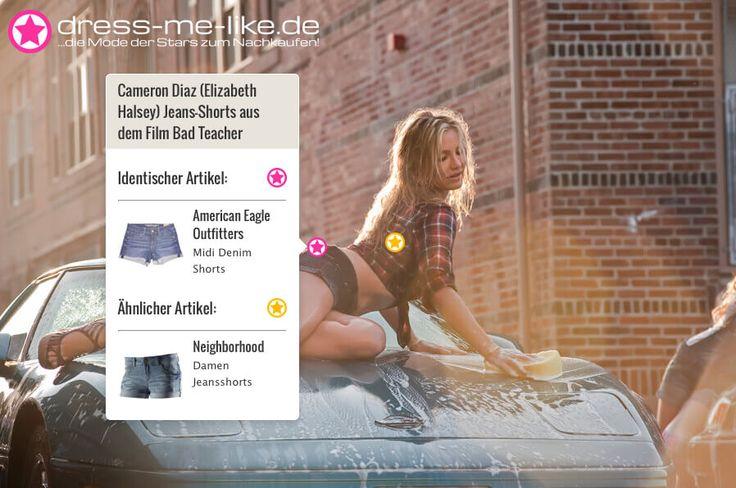 Cameron Diaz (Elizabeth Halsey) Jeans-Shorts (American Eagle Outfitters - Midi Denim Shorts) aus dem Film Bad Teacher
