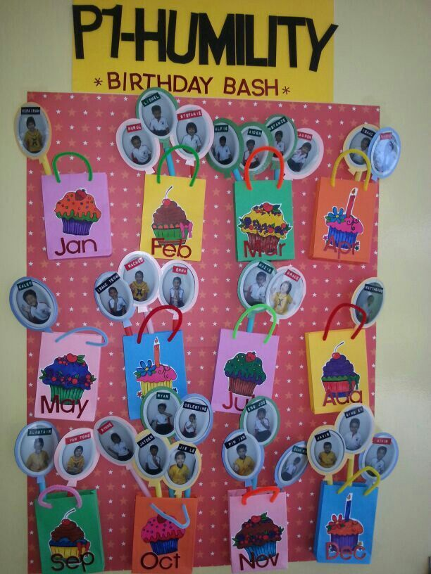 Marvellous Birthday Charts For Class Decoration 6 By Cool Article