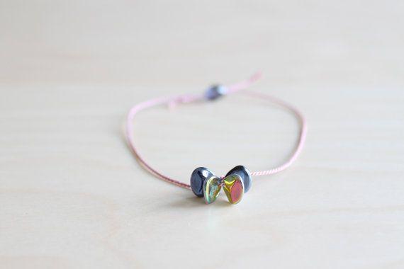 Friendship bracelet / flowery silk thread by HandsLoveJewelry